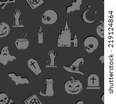 vector seamless gray halloween...   Shutterstock .eps vector #219124864