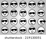 emotion face icons with... | Shutterstock .eps vector #219130051