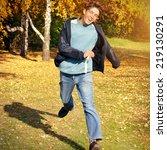 toned photo of happy teenager... | Shutterstock . vector #219130291