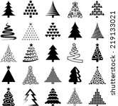christmas tree icon collection  ... | Shutterstock .eps vector #219133021