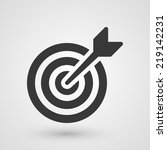 black target. icon about... | Shutterstock .eps vector #219142231
