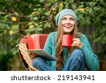 Beautiful Woman With Hot Tea...