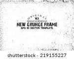 design template.abstract grunge ... | Shutterstock .eps vector #219155227