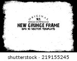 design template.abstract grunge ... | Shutterstock .eps vector #219155245