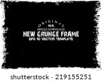 design template.abstract grunge ... | Shutterstock .eps vector #219155251