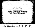 design template.abstract grunge ... | Shutterstock .eps vector #219155299