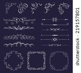 set vintage decorative elements ... | Shutterstock .eps vector #219157801