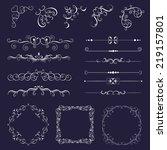 set vintage decorative elements ...   Shutterstock .eps vector #219157801