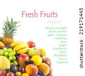 collection of different fruits... | Shutterstock . vector #219171445