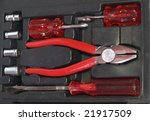 toolbox with different tools | Shutterstock . vector #21917509
