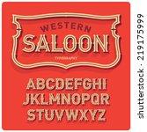vintage western style volume... | Shutterstock .eps vector #219175999