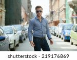 handsome young man wearing a... | Shutterstock . vector #219176869