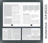layout magazine  vector    Shutterstock .eps vector #219182221