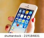 bucharest  romania   august 05  ... | Shutterstock . vector #219184831