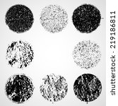 grunge circles | Shutterstock .eps vector #219186811