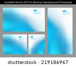 re sizable abstract cool blue... | Shutterstock .eps vector #219186967