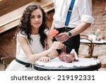 couple flirting. romantic...   Shutterstock . vector #219192331