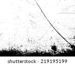 grunge scratched  texture.... | Shutterstock .eps vector #219195199