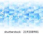onpu score background | Shutterstock . vector #219208981