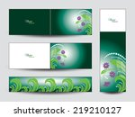 colorful floral banners. | Shutterstock .eps vector #219210127