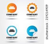 comfortable sofa sign icon.... | Shutterstock .eps vector #219214909