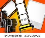 vector illustration foto film... | Shutterstock .eps vector #219220921