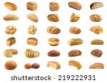 set bread isolated on white... | Shutterstock . vector #219222931