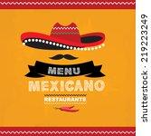 menu mexican  template design... | Shutterstock .eps vector #219223249
