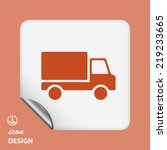 pictograph of truck | Shutterstock .eps vector #219233665
