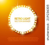 abstract retro light banner.... | Shutterstock .eps vector #219236305