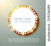 Abstract Retro Light Banner....
