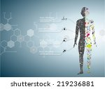 molecule body concept of the... | Shutterstock .eps vector #219236881