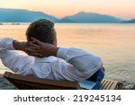 entrepreneur enjoys staying on... | Shutterstock . vector #219245134