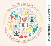 yoga background with yogic... | Shutterstock .eps vector #219249847