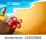 Illustration Of A Beach And A...