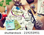 designer's desk with...   Shutterstock . vector #219253951