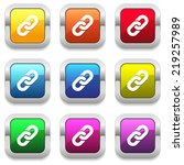 colorful buttons with chain... | Shutterstock .eps vector #219257989