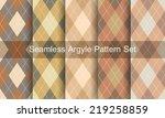 seamless argyle pattern.... | Shutterstock .eps vector #219258859