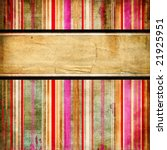 vintage striped background with place for text - stock photo