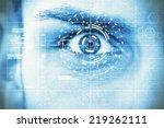 face  data interface | Shutterstock . vector #219262111