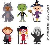 halloween children whom i... | Shutterstock .eps vector #219269395