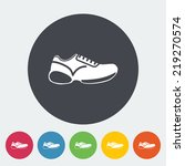 Shoes. Single Flat Icon On The...