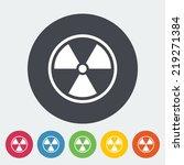 radioactivity. single flat icon ...   Shutterstock .eps vector #219271384