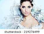 young woman in creative image... | Shutterstock . vector #219276499