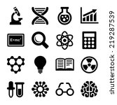 science icons set on white... | Shutterstock .eps vector #219287539