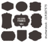 set of vintage blank frames and ... | Shutterstock .eps vector #219287575