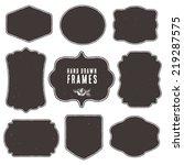 set of vintage blank frames and ... | Shutterstock .eps vector #219287575