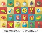 vector flat design icon of baby ... | Shutterstock .eps vector #219288967