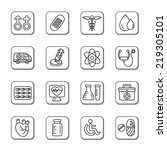 medical doodle icons | Shutterstock .eps vector #219305101