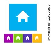 vector home icon in flat style. ...